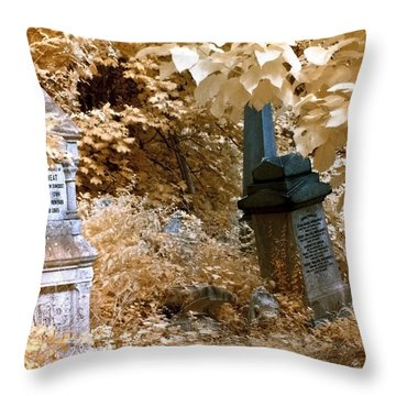 Autumnal Walk At Abney Park Cemetery Throw Pillow