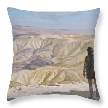 John The Baptist In The Desert Throw Pillow