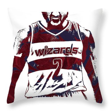John Wall Washington Wizards Pixel Art 5 Throw Pillow