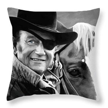 John Wayne @ True Grit #1 Throw Pillow