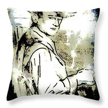 John Wayne Throw Pillow by Arline Wagner