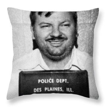 John Wayne Gacy Mug Shot 1980 Black And White Throw Pillow