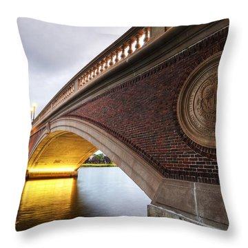 John Weeks Bridge Charles River Harvard Square Cambridge Ma Throw Pillow