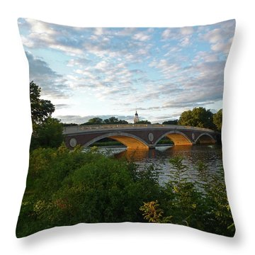 John Weeks Bridge In Harvard Square Cambridge Throw Pillow