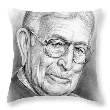 John Wooden Throw Pillow