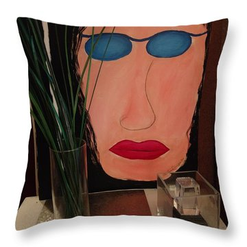 Johnlennonborderline Throw Pillow
