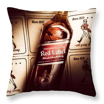 Johnnie Walker Red Label Blended Whisky  Throw Pillow