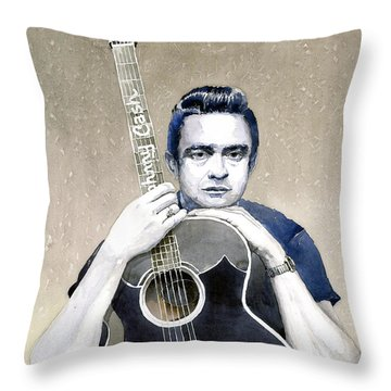Johnny Cash Throw Pillow