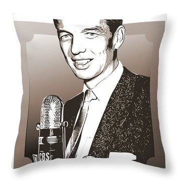 Johnny Dollar Throw Pillow