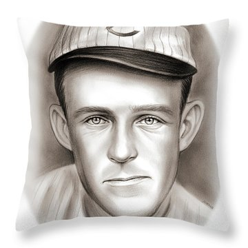 Johnny Evers Throw Pillow
