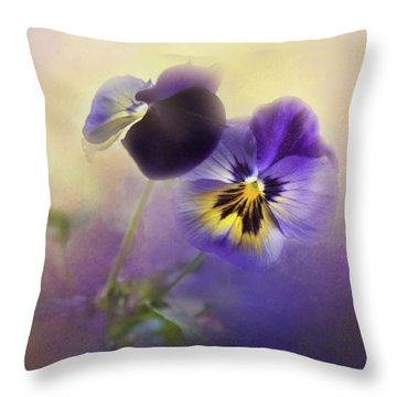Throw Pillow featuring the photograph Johnny Jump Up by Theresa Tahara