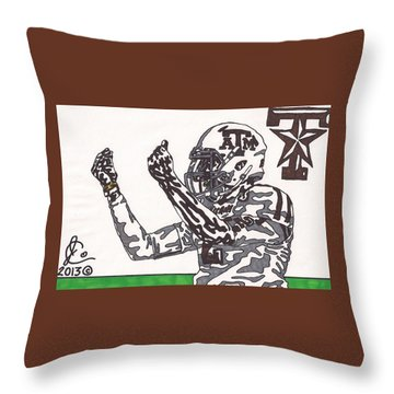 Johnny Manziel 10 Change The Play Throw Pillow