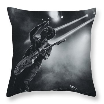 Johnny Marr Playing Live Throw Pillow