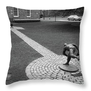 Copperstown Ny Johnny Padres Pitching To Roy Campanella La Dodgers Baseball  Throw Pillow
