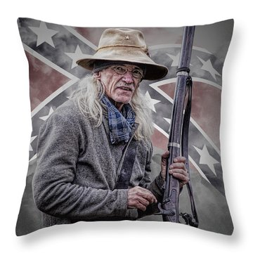 Johnny Reb Throw Pillow