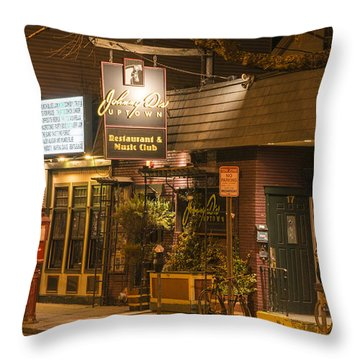 Johnny Ds Music Club In Davis Square Somerville Ma Throw Pillow