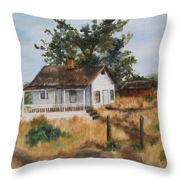 Johnny's Home Throw Pillow