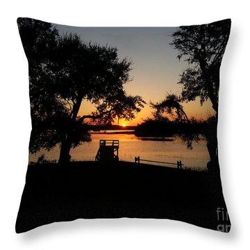 Johns Island Sunset Throw Pillow