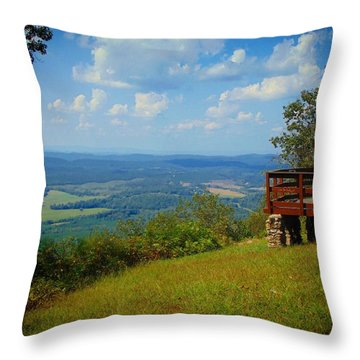John's Mountain Overlook Throw Pillow