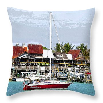 Johns Pass Florida Throw Pillow by David Lee Thompson