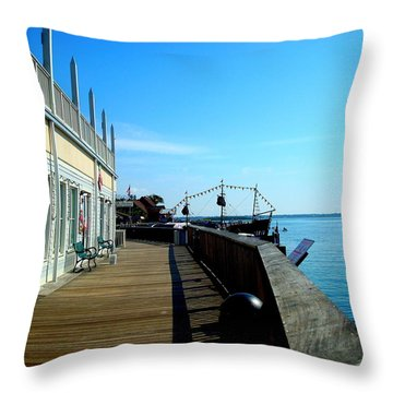 John's Pass View Throw Pillow