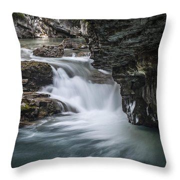 Johnson Canyon Waterfall Throw Pillow