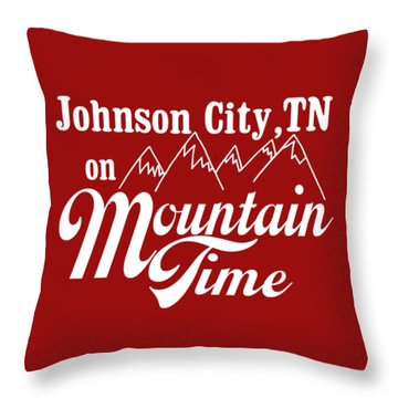Throw Pillow featuring the digital art Johnson City Tn On Mountain Time by Heather Applegate