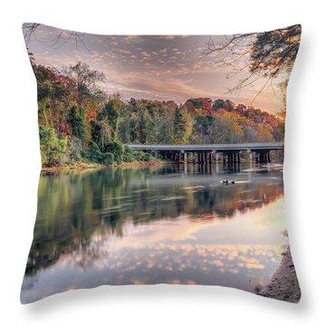 Johnson Ferry Bridge Throw Pillow