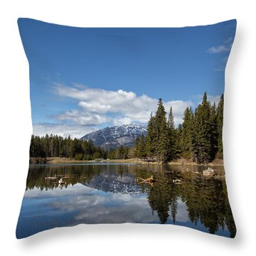 Johnson Lake Reflections Throw Pillow
