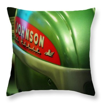 Johnson Sea Horse  Throw Pillow by Rebecca Sherman