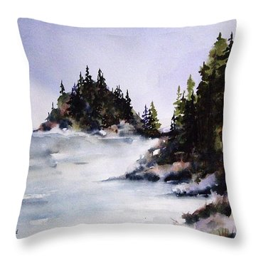 Throw Pillow featuring the painting Johnstone Strait by Marti Green