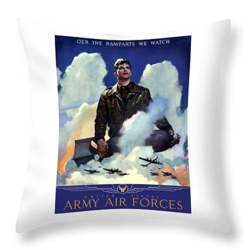 Join The Army Air Forces Throw Pillow by War Is Hell Store