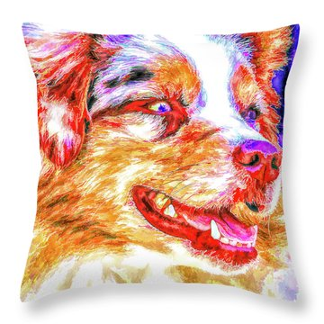 Joker Boy Throw Pillow