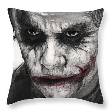 Joker Face Throw Pillow by James Holko