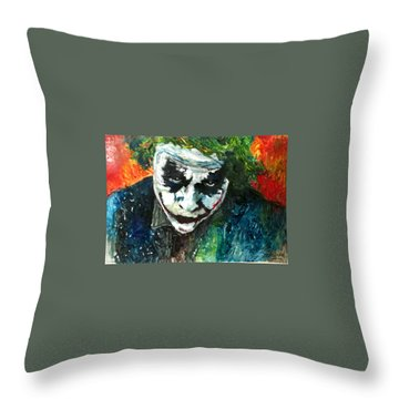 Joker - Heath Ledger Throw Pillow