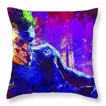 Joker's Grin Throw Pillow