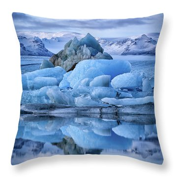 Jokulsarlon  Throw Pillow