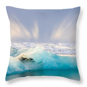 Jokulsarlon Glacier Lagoon Throw Pillow