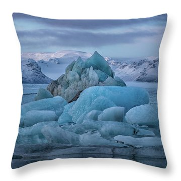 Jokulsarlon Iceland Throw Pillow
