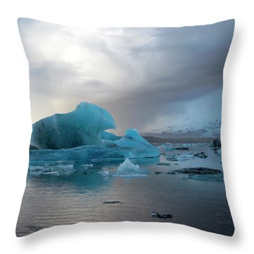 Throw Pillow featuring the photograph Jokulsarlon, The Glacier Lagoon, Iceland 4 by Dubi Roman