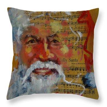 Jolly Santa Throw Pillow