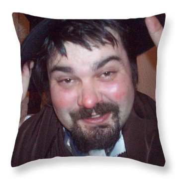 Jolly Spiffing Throw Pillow by Judith Desrosiers