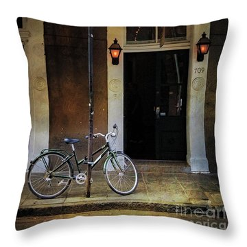 Jolt 709 Bicycle Throw Pillow