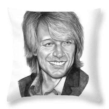 Jon Bon Jovi Throw Pillow by Murphy Elliott