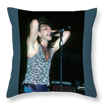 Jon Bon Jovi Throw Pillow