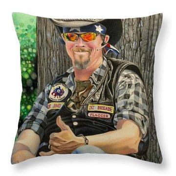 Jon Jones, Army Of Northern Virginia Mechanized Cavalry  Throw Pillow