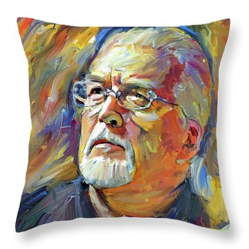 Jon Lord Deep Purple Portrait 2 Throw Pillow