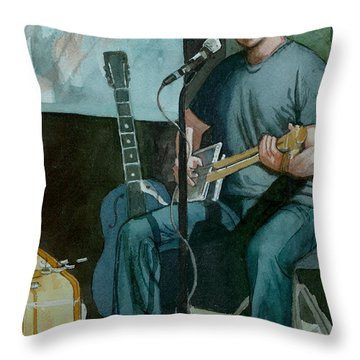 Jon Short-have Blues Will Travel Throw Pillow by Lynn Babineau