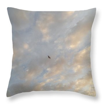 Throw Pillow featuring the photograph Jonathan Livingston Seagull by LeeAnn Kendall
