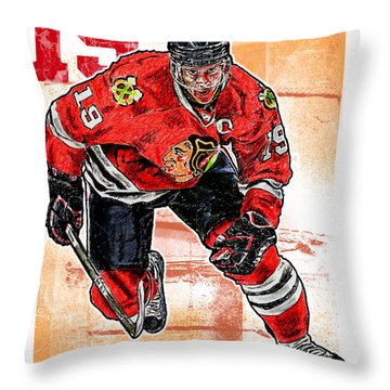 Jonathan Toews Throw Pillow